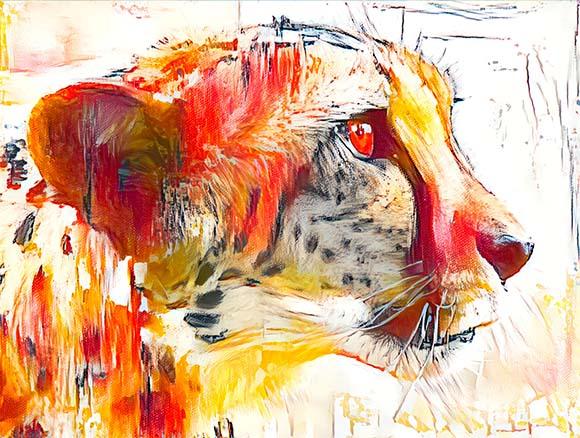 Arte Guepardo - Sou Veloz - Golber Dória Arte e Design