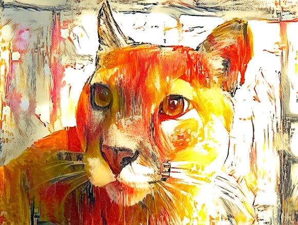 Arte Puma ao Sol - Golber Dória Arte e Design
