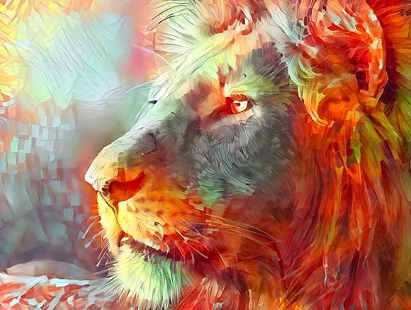 Arte Super Leão - Golber Dória Arte e Design