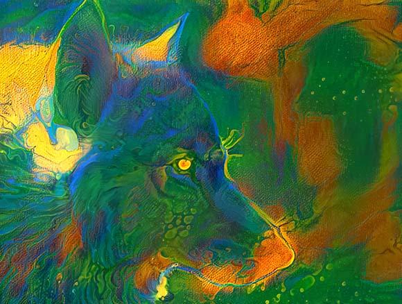 Lobo Camuflado Arte digital NFT Golber Dória