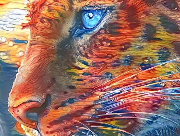 Olho Azul Arte digital NFT Golber Dória
